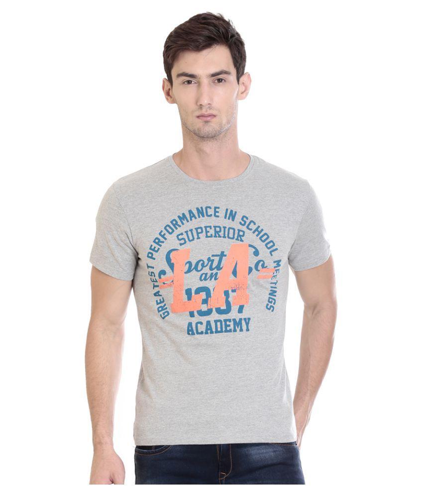 HOLS Grey Round T-Shirt
