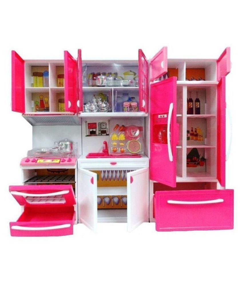 Modern Kitchen Set With 4 Compartments Musical And Lights Big Size