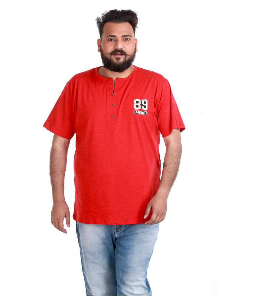 Xmex Red Henley T-Shirt
