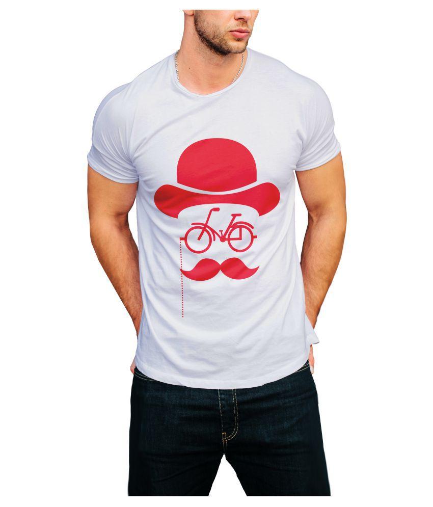 Print Opera White Round T-Shirt