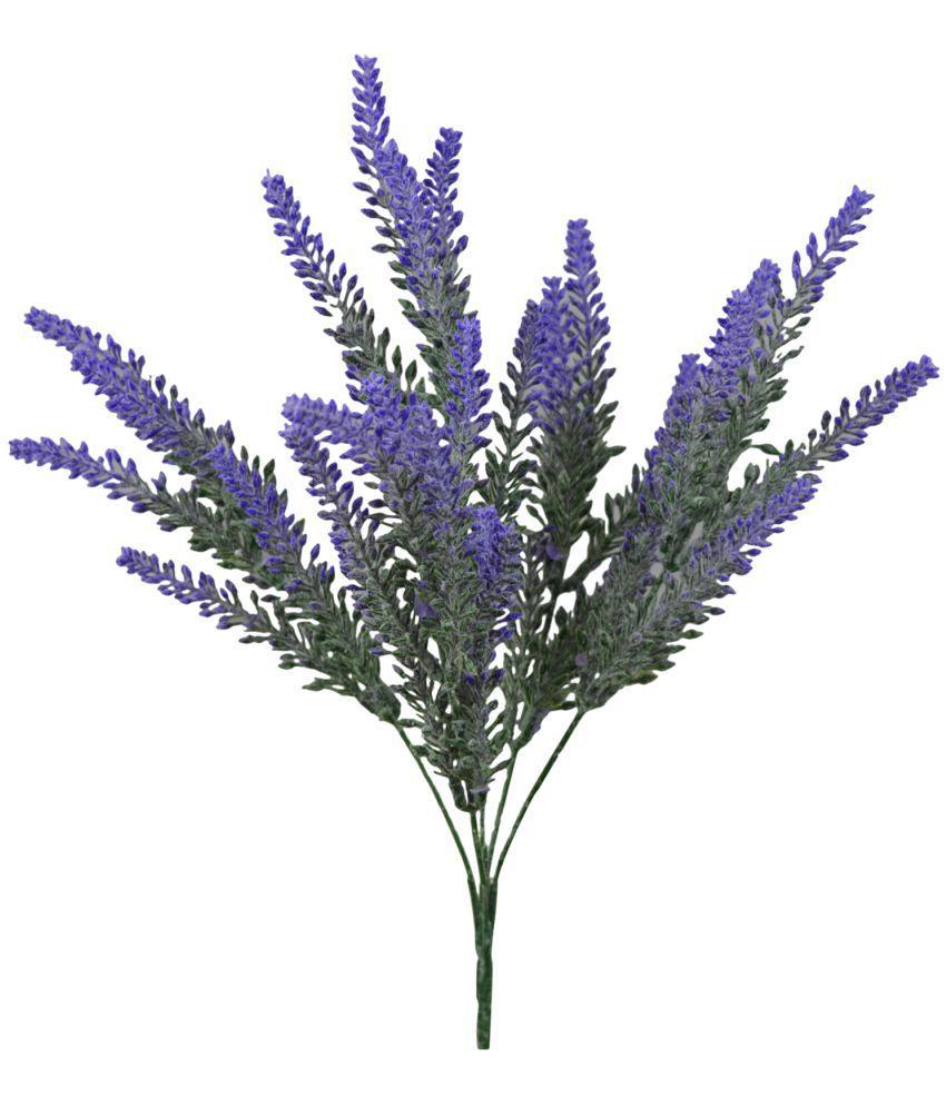 the fancy mart artificial flower leveder bush blue artificial plants