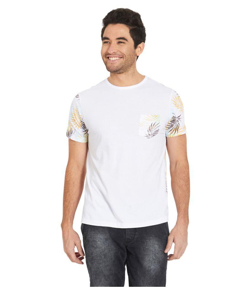 Deezeno White Round T-Shirt