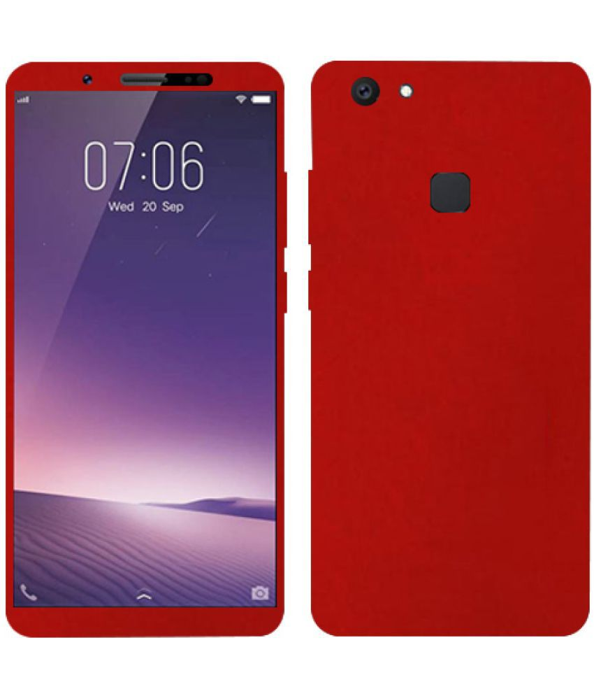 size 40 62a0f dfeed vivo V7 plus Plain Cases Kosher Traders - Red