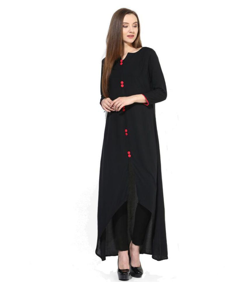 The Bebo Black Crepe Anarkali Kurti