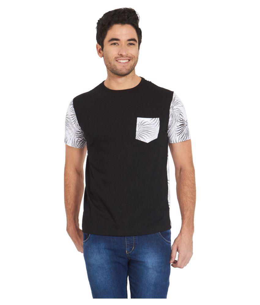 Deezeno Black Round T-Shirt