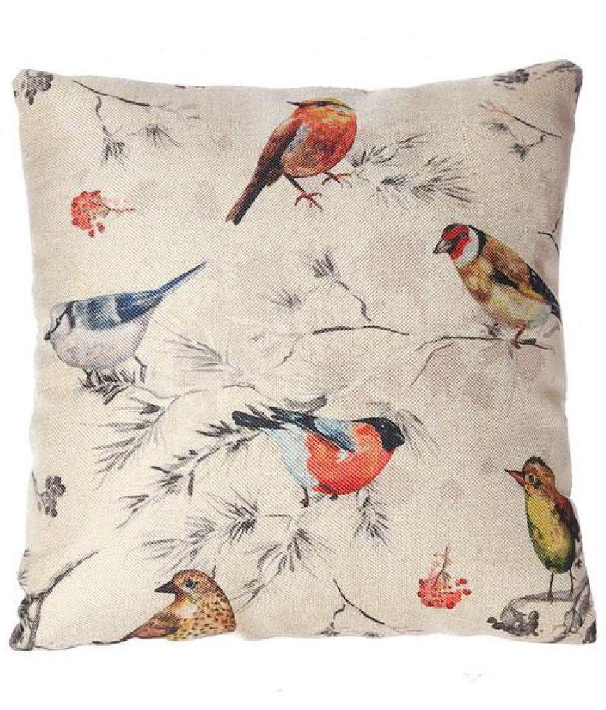 NestRoots Single Jute Cushion Covers 40X40 cm (16X16)