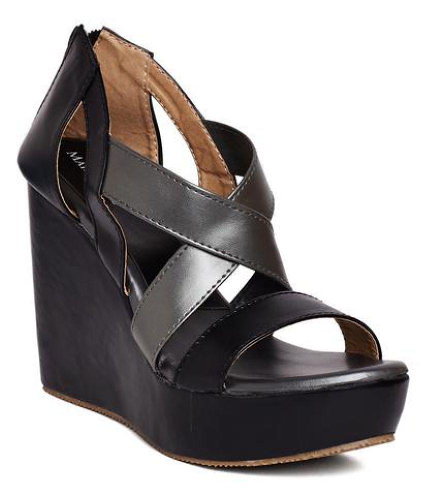 Marc Loire Black Wedges Heels