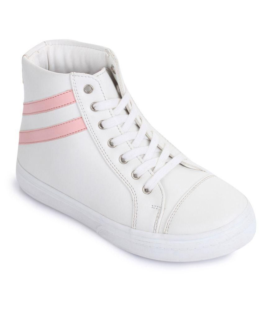 Bruno Manetti Kids Unisex White Synthetic Leather Sneakers
