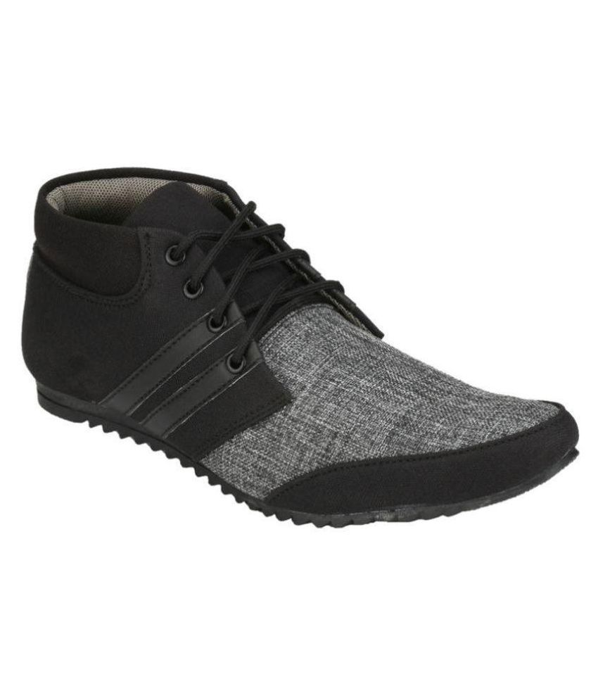 S A Creations 2117-07 Lifestyle Black Casual Shoes