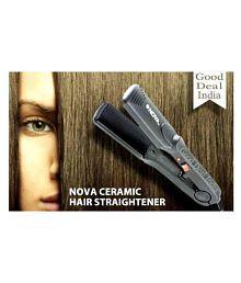 NOVA NHC-522CRM Hair Straightener ( Black )