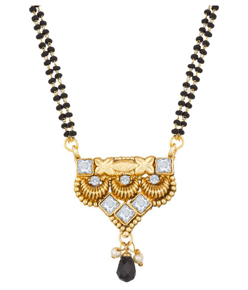 Aadita Fashion Jewellery Traditional Australian Diamond Mangalsutra with Chain