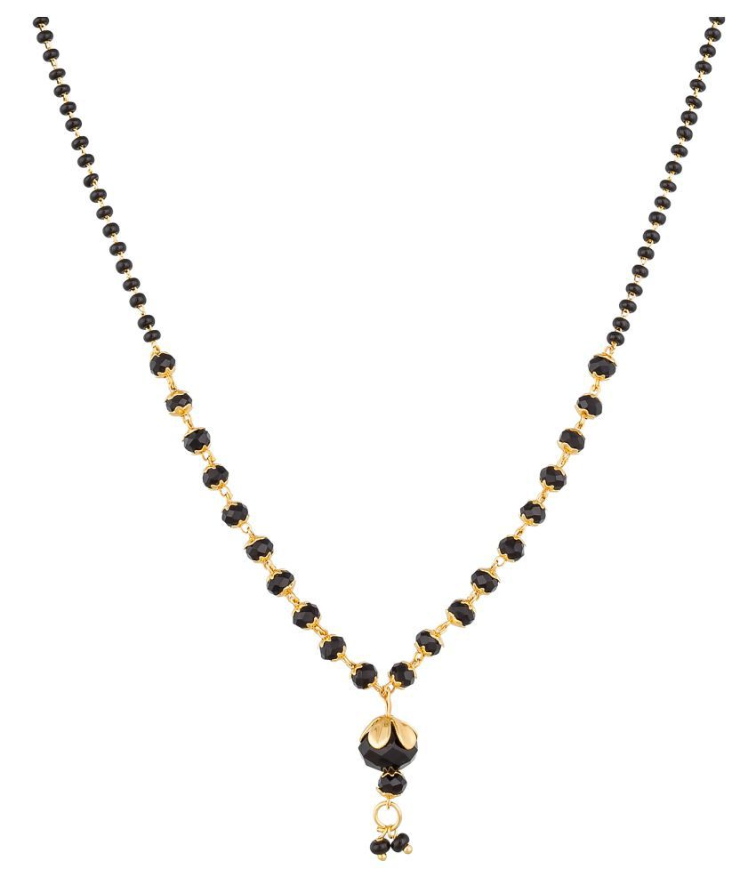 Aadita Fashion Jewellery Traditional Gold Plated Mangalsutra with Chain