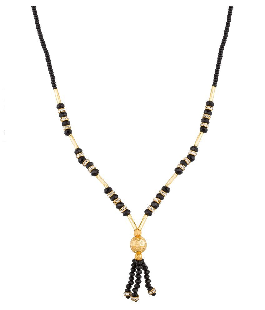 Aadita Fashion Jewellery Traditional Gold Plated Beads Mangalsutra with Chain