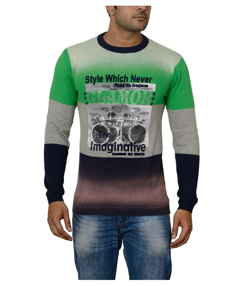 Raab Green Round T-Shirt