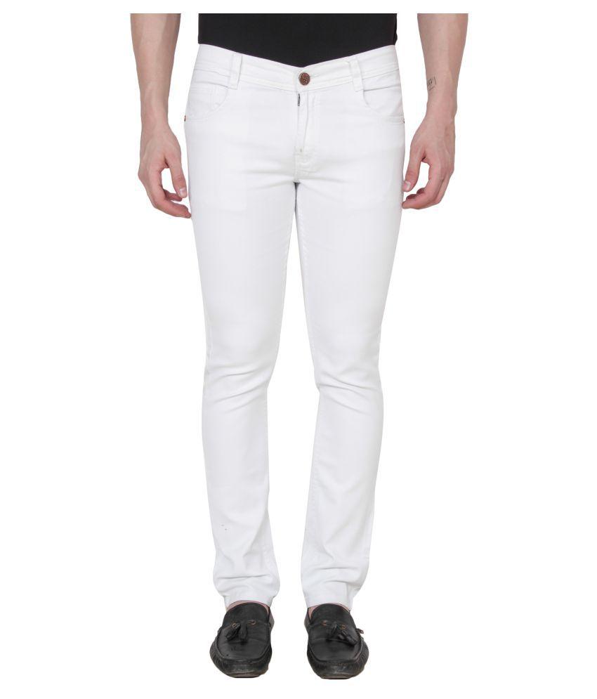 Ridge Vogue White Regular Fit Jeans