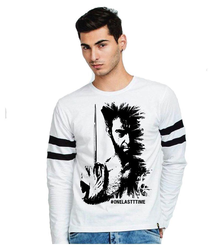 Veirdo White Round T-Shirt