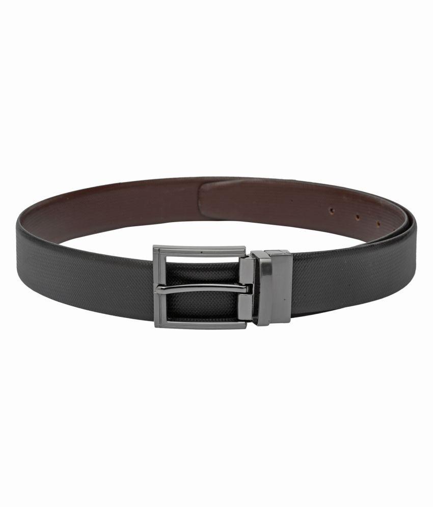 TEAKWOOD Black Leather Formal Belts