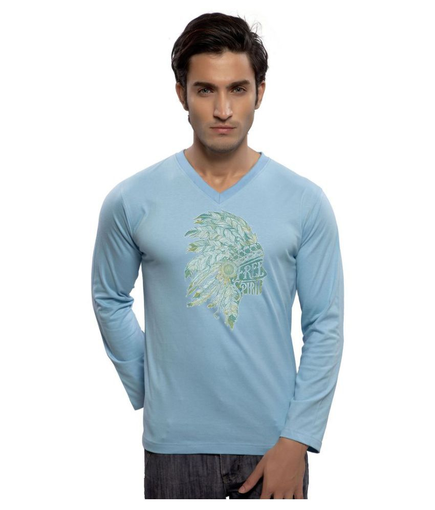 clifton Blue V-Neck T-Shirt