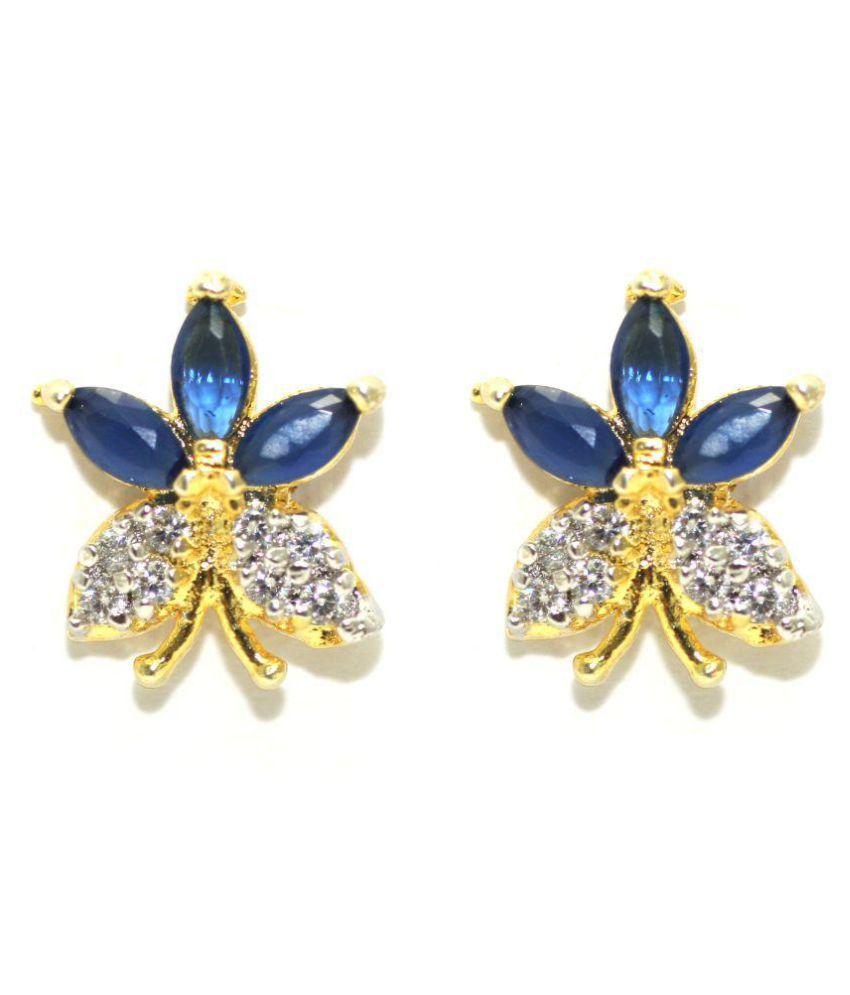 Gold Plated Butterfly Shape Stud Earring For Girl Women