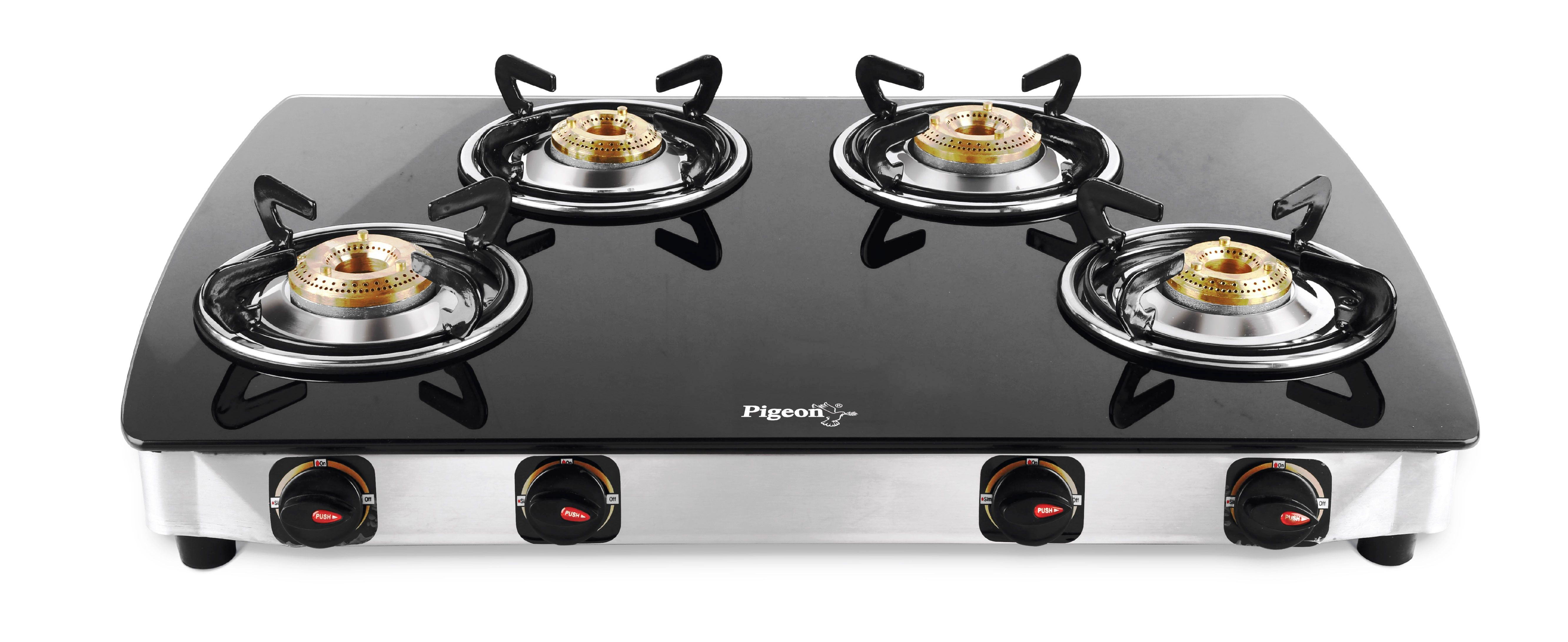 2f01ccc80 Pigeon oval ZZ 4 Burner Manual Gas Stove Price in India - Buy Pigeon ...