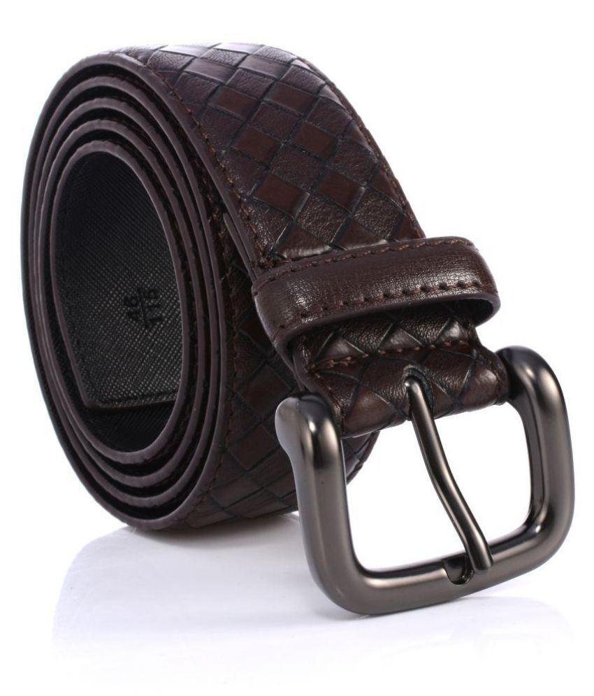 Abrazo Brown Faux Leather Casual Belts