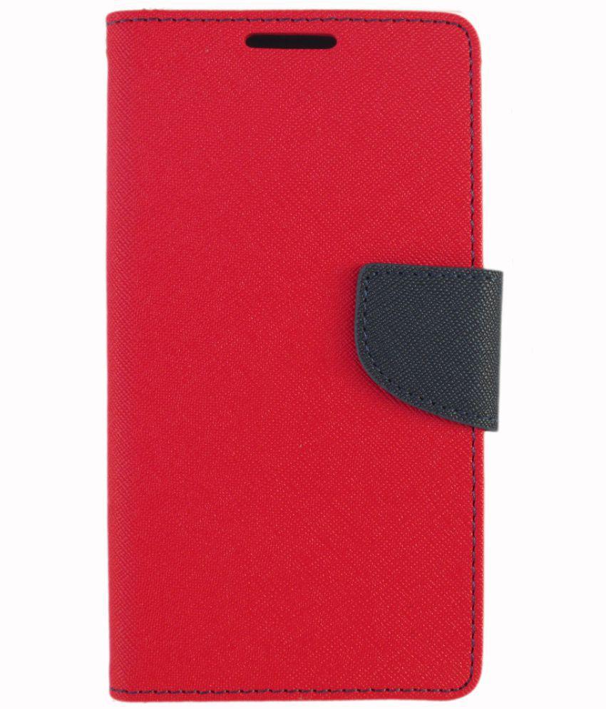 wholesale dealer 6f658 0087b Micromax Evok Dual Note Flip Cover by Zocardo - Red