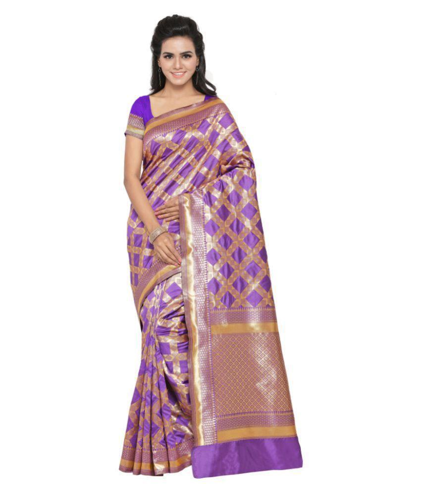 Aagaman Fashions Multicoloured Banarasi Silk Saree