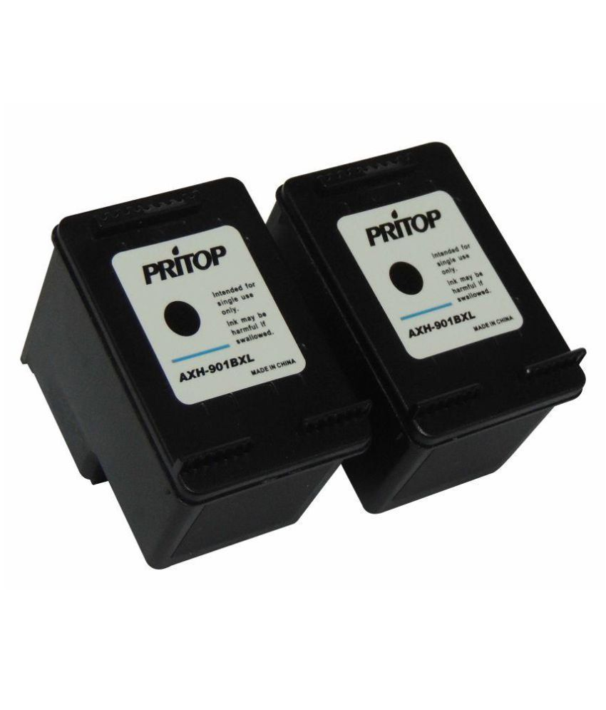 Pritop 901-J4640 J4580 4500 Black Ink Cartridge Pack of 2