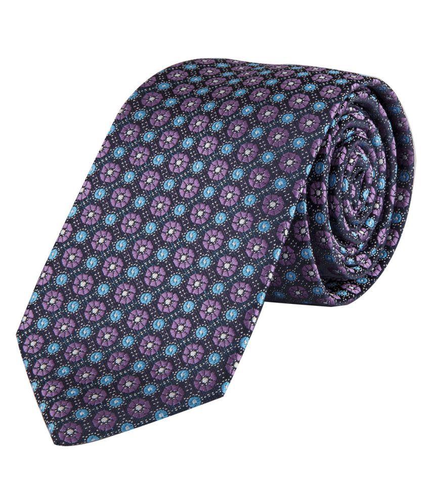 DAPPER HOMME Purple Abstract Polyester Necktie