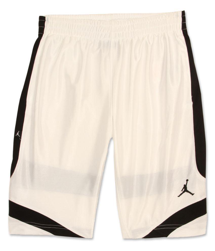 Jordan Boys White Solid Shorts