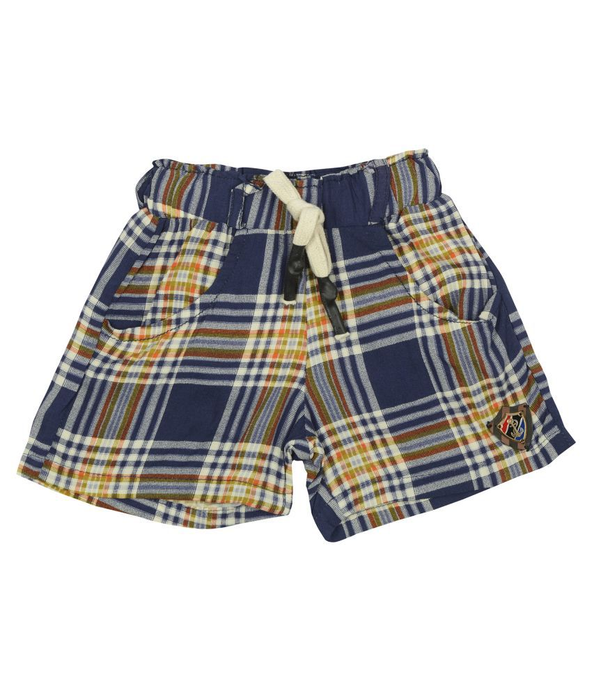 Carrel Rayon Fabric Girls Blue Short
