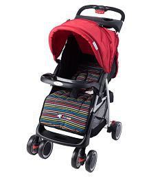 Toyhouse City Stroller, Red n Black Stripes