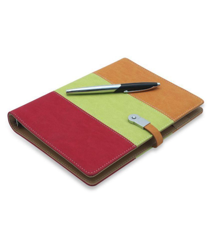 Coi Tri colour business undated planner / diary with pen with Free Pen  amp; 8 gb pen drive