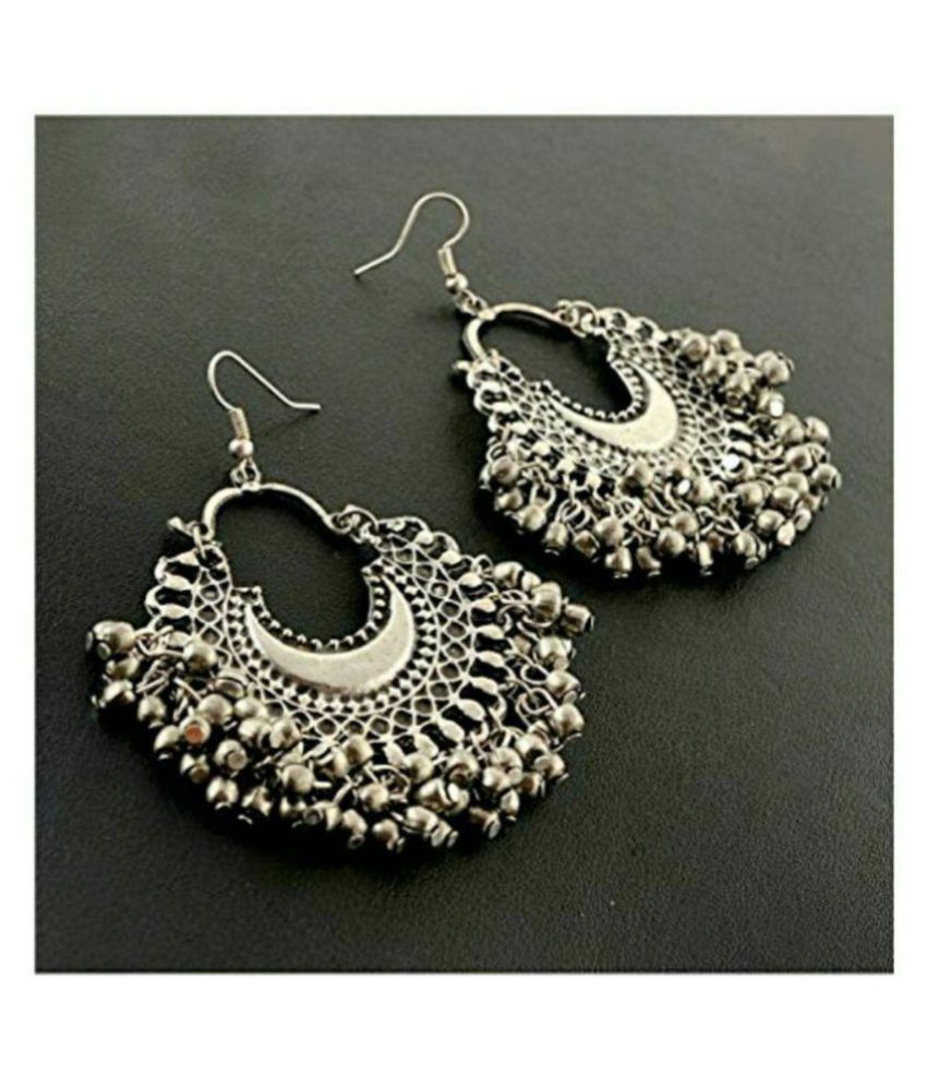 Renaissance Traders Silver Afghani Metal Antique German Designer Trendy Stylish Earring