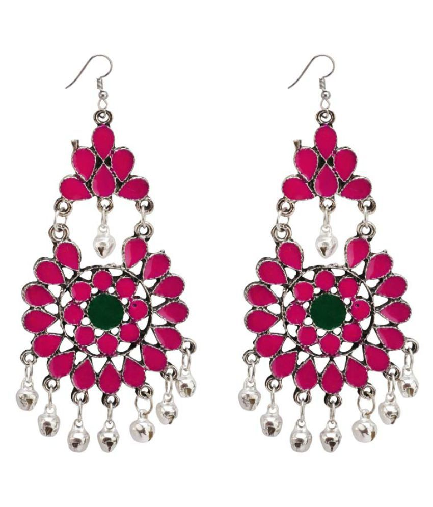 Bollywood fashion indian ethnic style Jhumka pair or Multicolor earrings Jewelry for Elegant Fashion Women and Girls