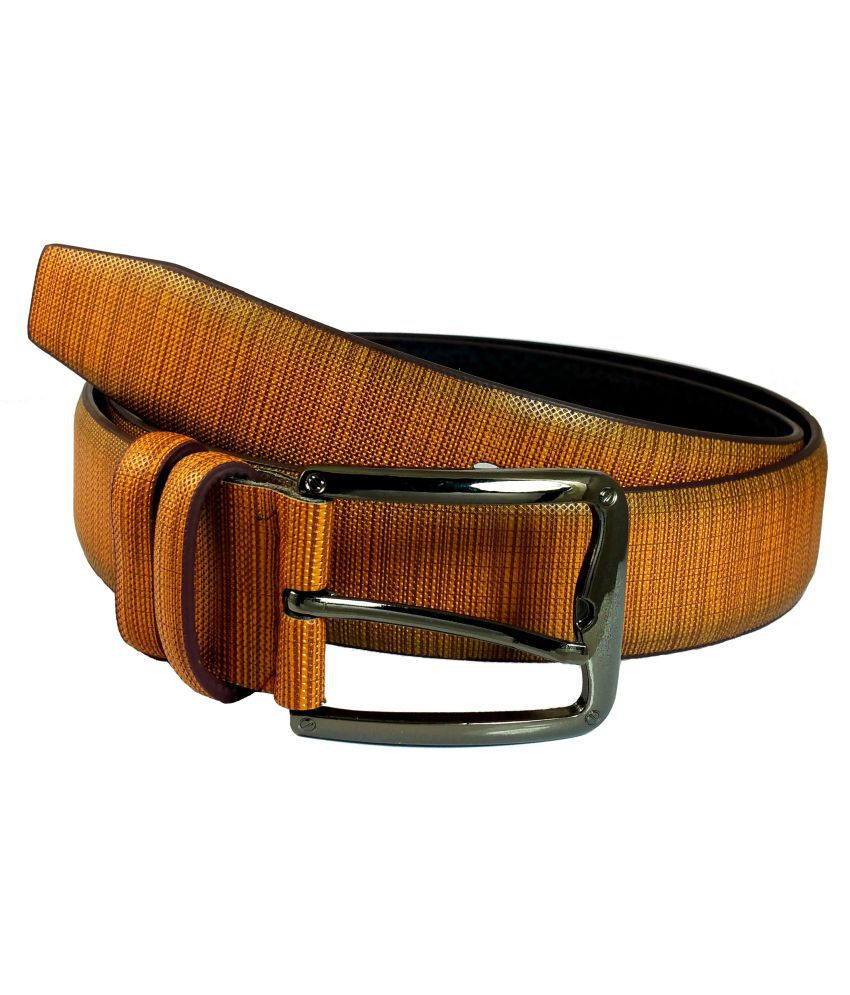 AMMVI CREATIONS Brown Leather Formal Belts
