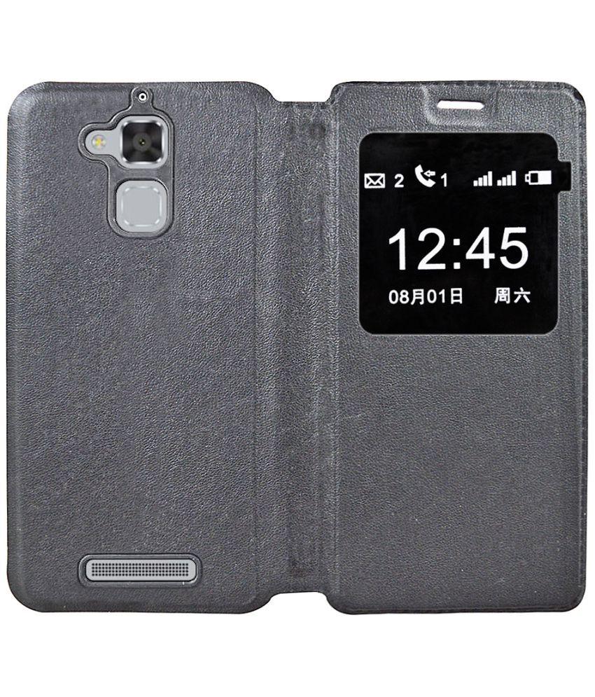 Asus ZenFone 3 Max ZC520TL Flip Cover by Coverage - Black