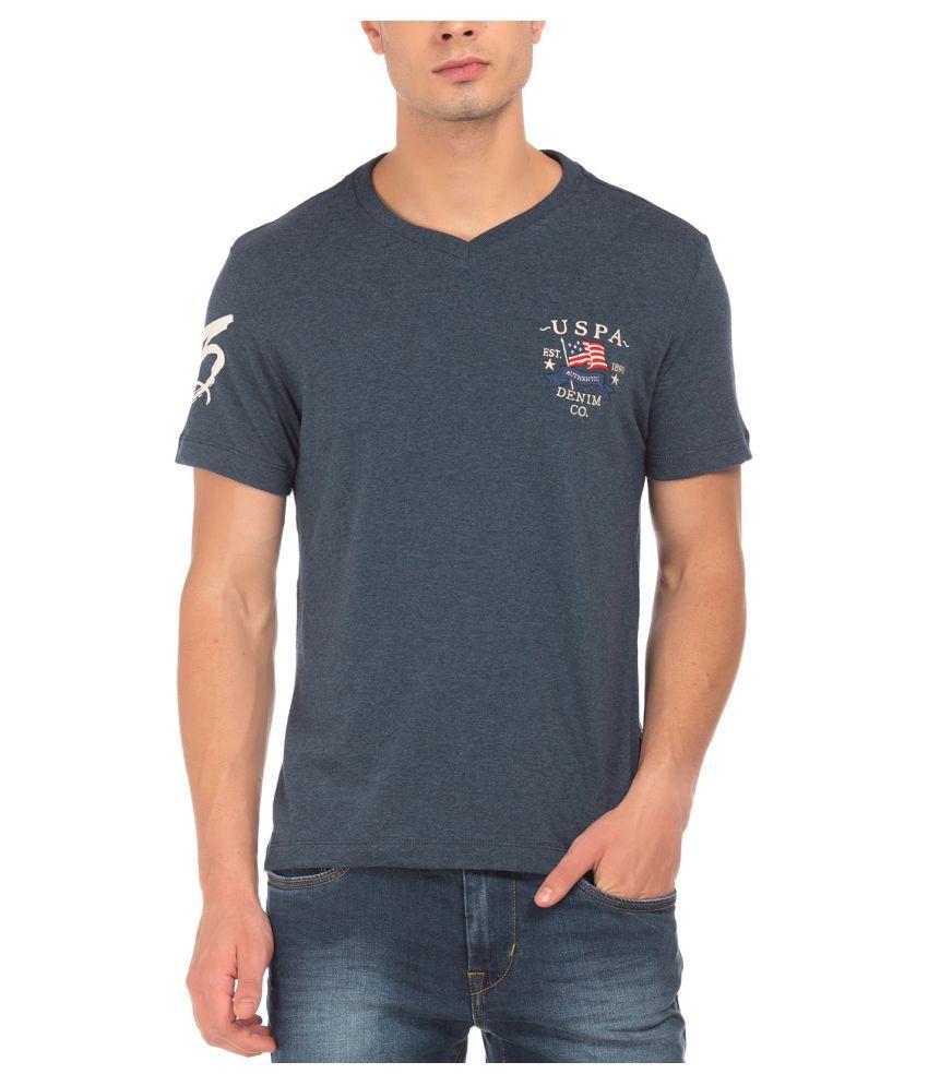 U.S. Polo Assn. Blue V-Neck T-Shirt
