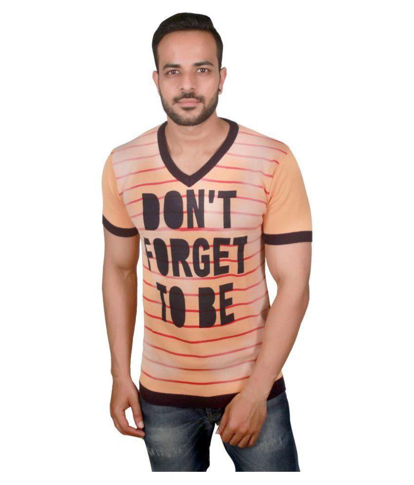 Raab Orange V-Neck T-Shirt