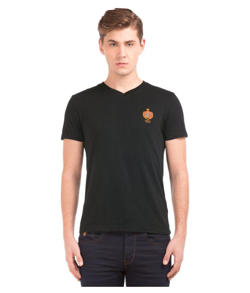 U.S. Polo Assn. Black V-Neck T-Shirt
