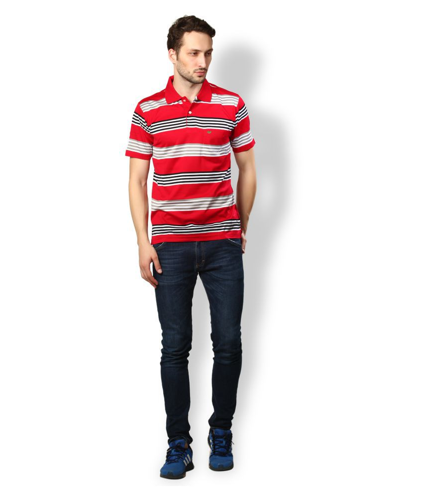 UV & W Red Cotton Polo T-Shirt