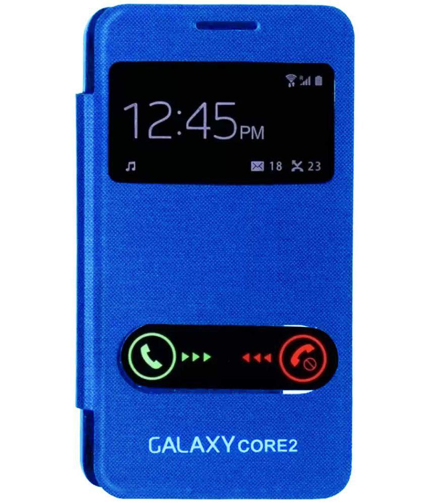 timeless design 32e1a 8e4c7 Samsung Galaxy Core 2 Flip Cover by TBZ - Blue