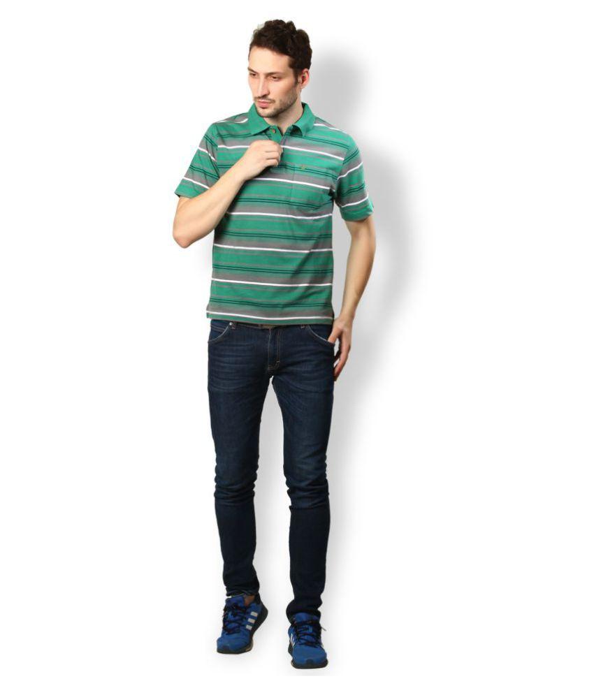UV & W Green Cotton Polo T-Shirt