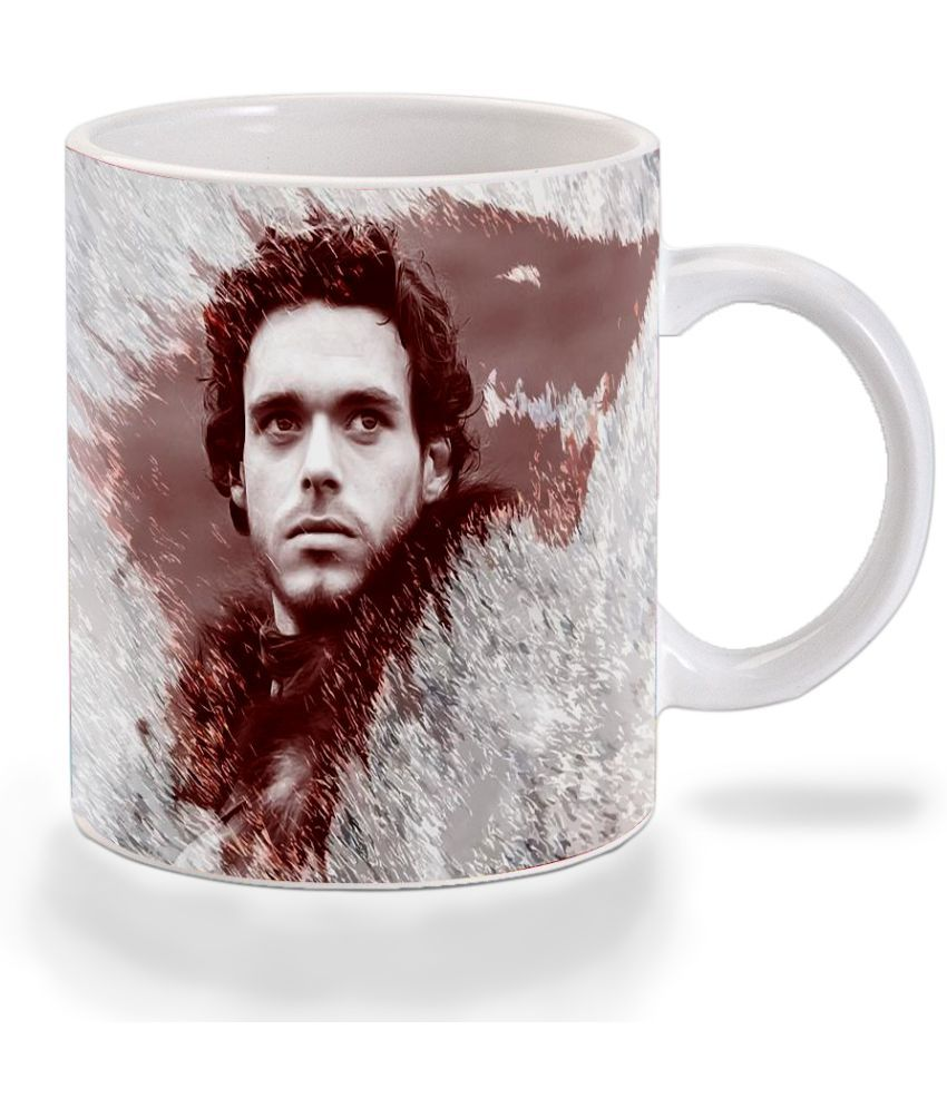Mooch Wale Game Of Thrones Rob Stark Blood Wolf Ceramic Dinner Set of 1 Pieces