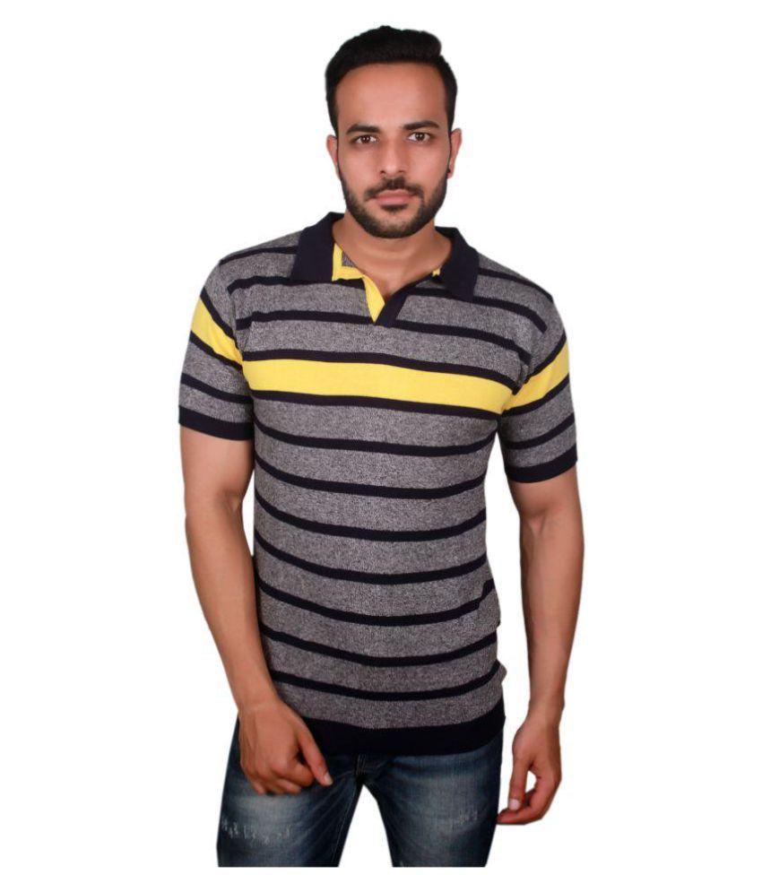 Raab Grey High Neck T-Shirt