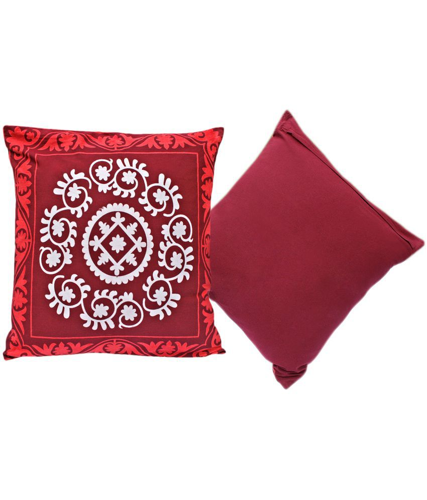 Sriam Set of 2 Cotton Cushion Covers 50X50 cm (20 X 20)