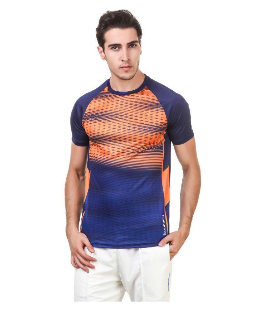 Nivia Orange Polyester T-Shirt