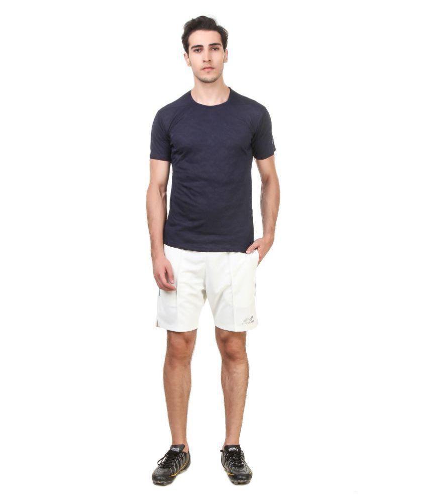 Nivia Blue Polyester T-Shirt