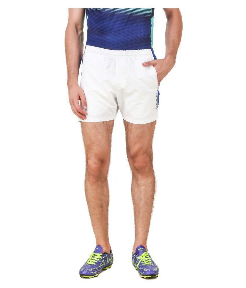 Nivia White Polyester Fitness Shorts