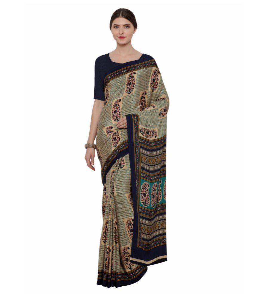 Ligalz Multicoloured Crepe Saree